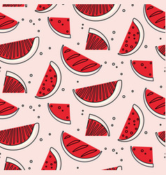 watermelon summre fruit concept fern botanical vector image