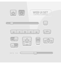 Web UI Elements vector