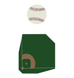 Baseball ball and fiels vector image vector image