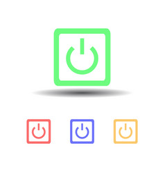 icon four computer power button isolated on white vector image