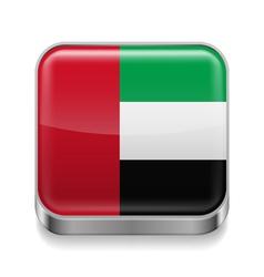 Metal icon of United Arab Emirates vector image