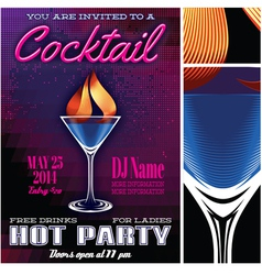 poster template for the cocktail party vector image vector image