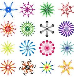 Set of design elements spiral in colors vector