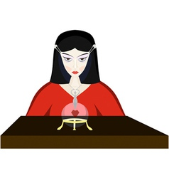 young fortuneteller witch vector image