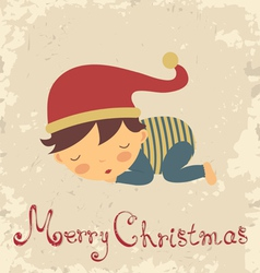 Christmas baby card vector image vector image