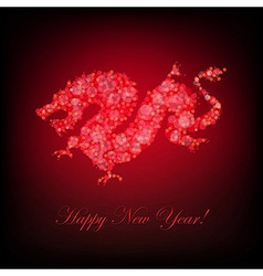 New Year Card With Dragon vector image vector image