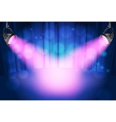 theatre spot lights vector image vector image