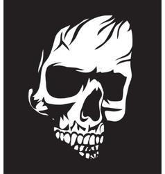 White Skull vector image vector image