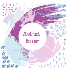 abstraction banner in the purple shades of color vector image vector image