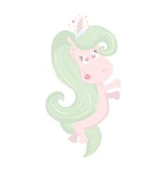 Cute beautiful Unicorn isolated on white Magic vector image