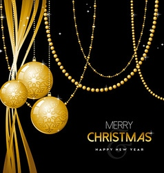 Gold Christmas and new year ornament bauble design vector image vector image