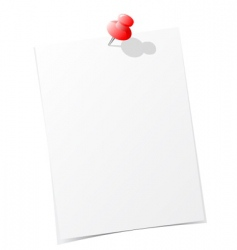 note paper with pin vector image vector image