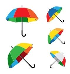 rainbow umbrella white background vector image