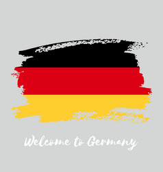 germany watercolor national country flag icon vector image