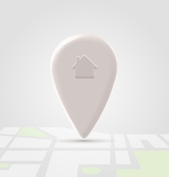 Home local pin over map block vector image