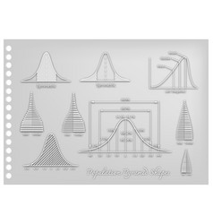 paper art of standard deviation diagrams with popu vector image