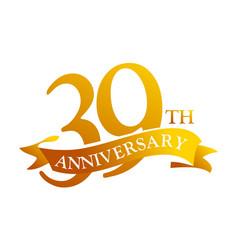 39 year ribbon anniversary vector