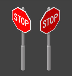 3923 isoobj road sign vector image