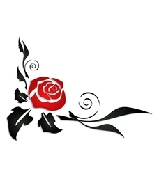 Abstract rose corner vector