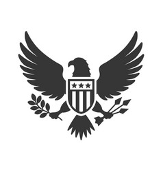 American presidential national eagle sign on white vector
