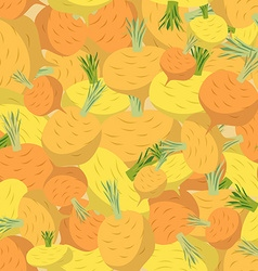 Background of yellow turnips seamless pattern of vector image