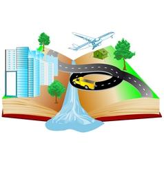 Book travels vector
