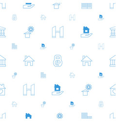 Building icons pattern seamless white background vector
