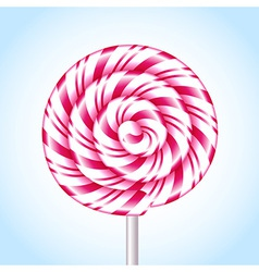Candy cane sweet spiral vector