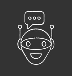 Chat bot chalk icon vector