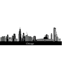 Chicago city skyline vector