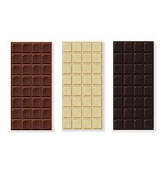 Chocolate milk dark white handmade bio isolated on vector