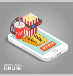 Cinema tickets online vector