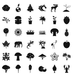 Climate icons set simple style vector