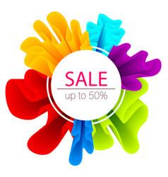 colorful modern gradient sale label vector image