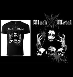 Corpse paint t-shirt gothic black metal vector