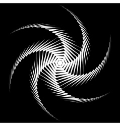 Design monochrome whirl octopus background vector
