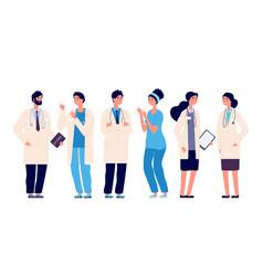 doctors team medical staff doctor nurse therapist vector image