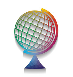 earth globe sign colorful icon with vector image