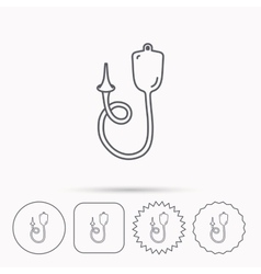 Enema icon Medical clyster sign vector image