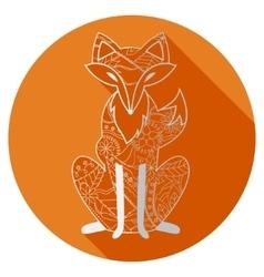 Flat icon of fox vector image