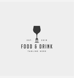 Food and drink simple flat logo design icon vector