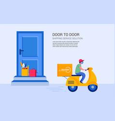 Food delivery service concept online order vector