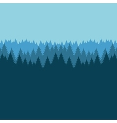 Forest landscape picture isolated icon vector