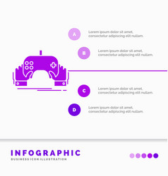 game gaming mobile entertainment app infographics vector image