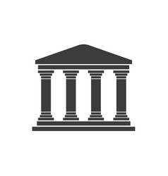 greek temple on a white background flat design vector image