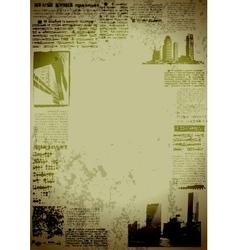 grunge city border vector image