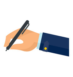hand writing on papers icon flat style vector image