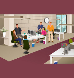 informal business meeting vector image