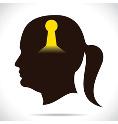 Key whole in human head vector