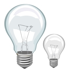 Light bulb isolated vector